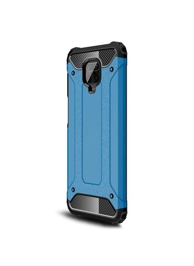Microsonic Xiaomi Redmi Note 9 Pro Kılıf Rugged Armor Mavi